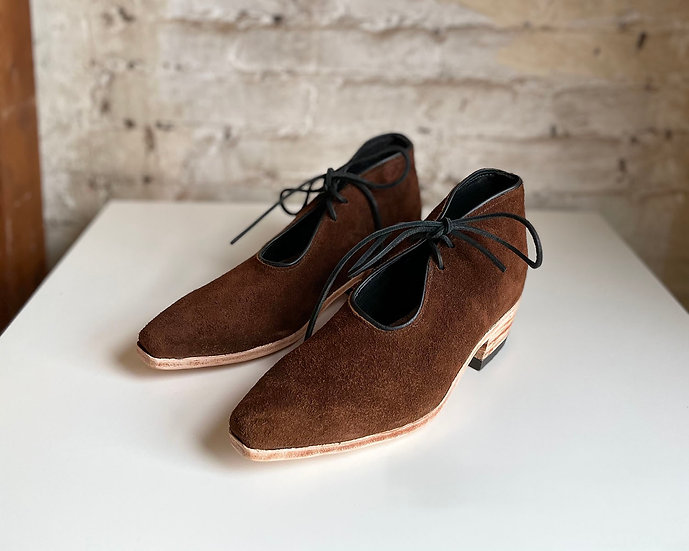 Cowboy Bootie in Chocolate