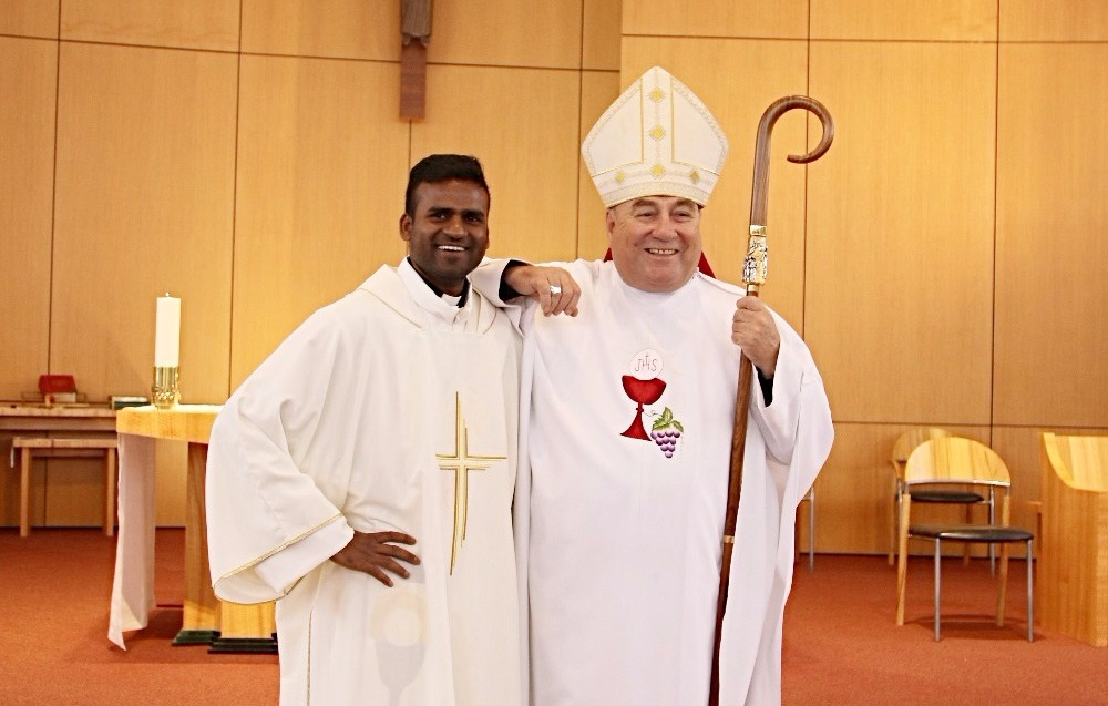 Bishop Saunders with Deacon John