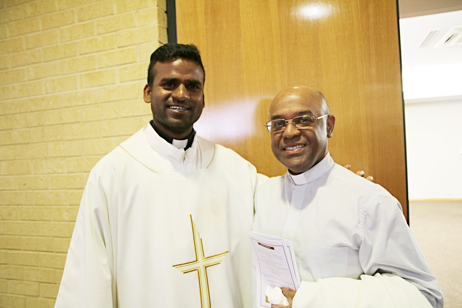 Deacon John with Fr. Jean-Noel