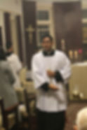 Dominic as Thurifer at the Ministry Mass, 2017