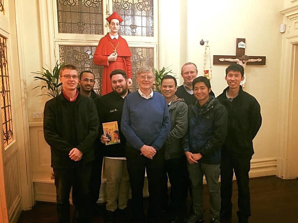 Seminarians with Fr. Brendan Bryne, SJ.