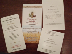 Newly Ordained Prayer Cards