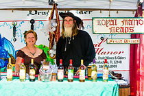 pirate, wine, booth, mead, winery, couple, man, woman