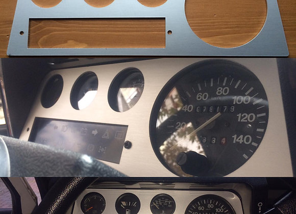 Stainless Steel Dashboard Dial Surround Panel