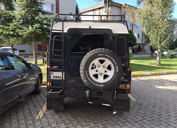 Land Rover Defender Swing Away Wheel Carrier