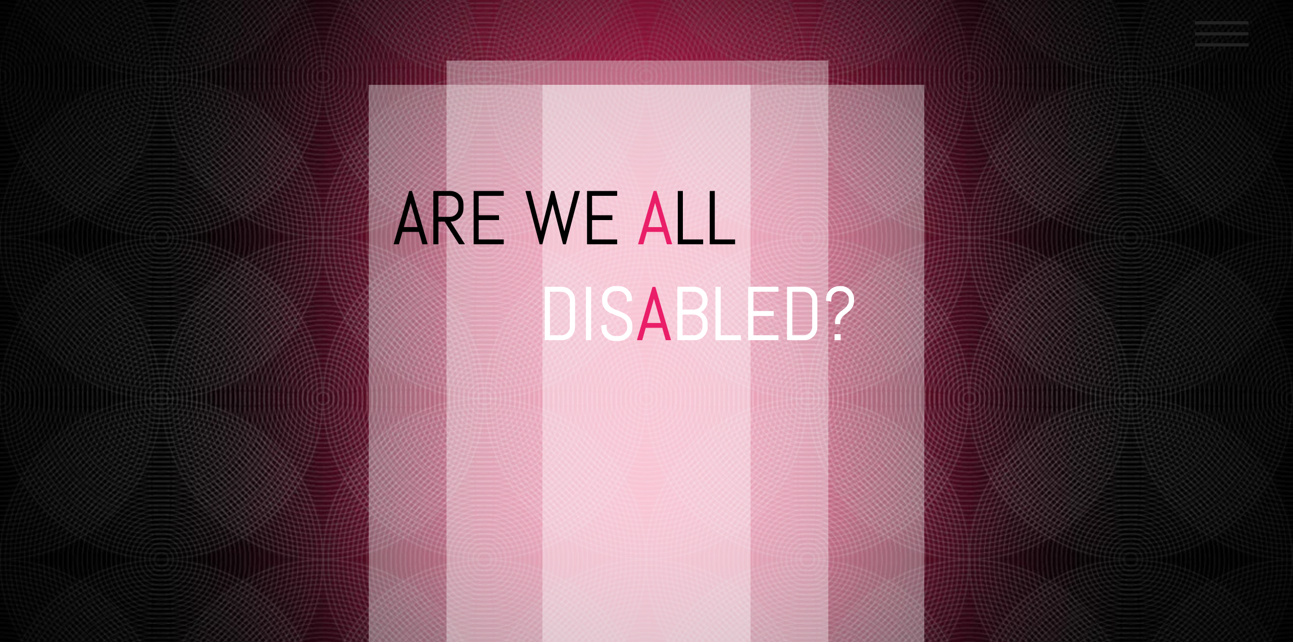 ARE WE ALL DISABLED_