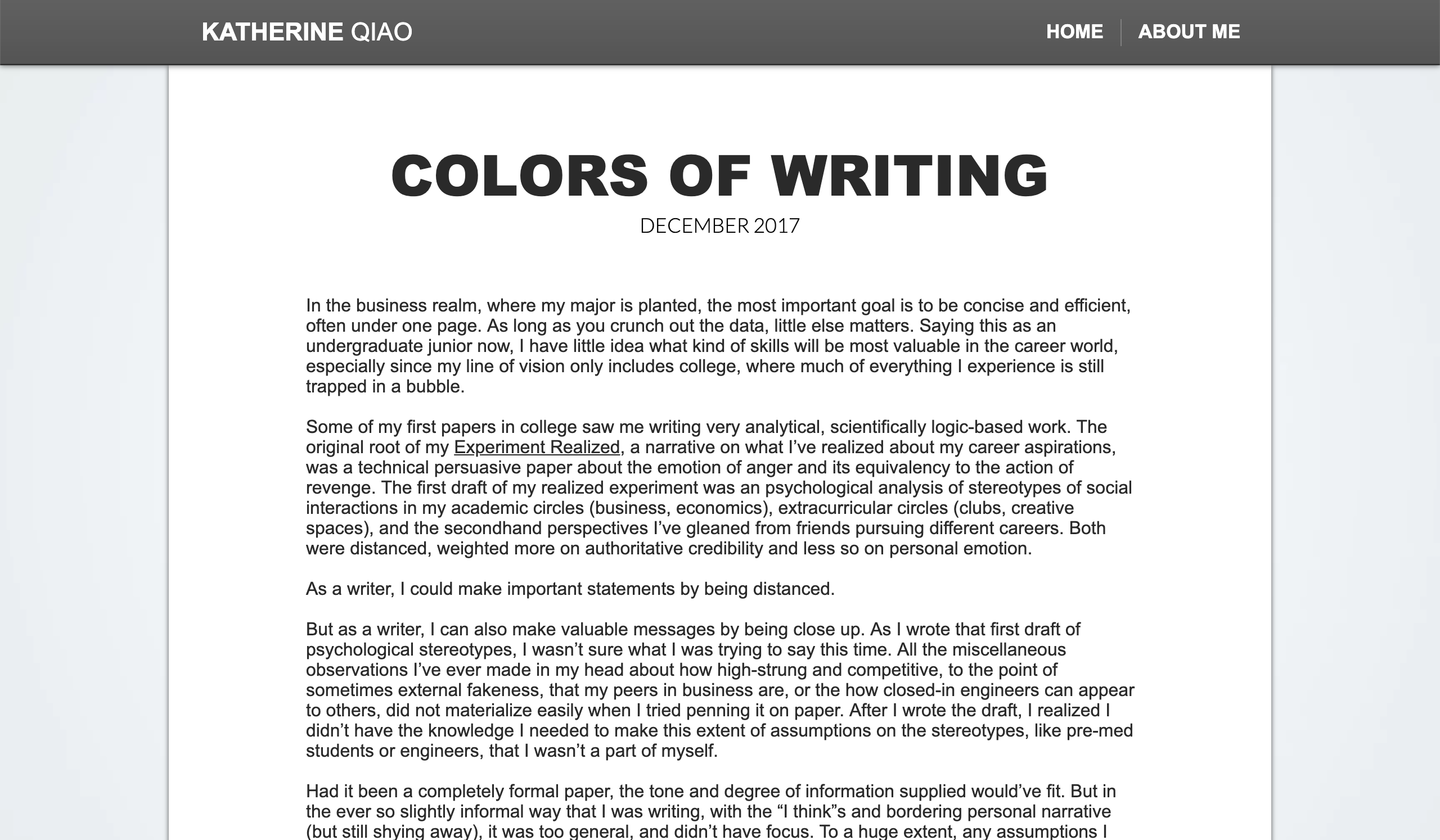 COLORS OF WRITING