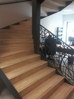 escalier avec garde corps