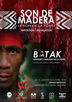 Affiche Exposition Batak-Son de Madera
