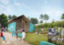 Projet Maison Libellule-Vue du jardin