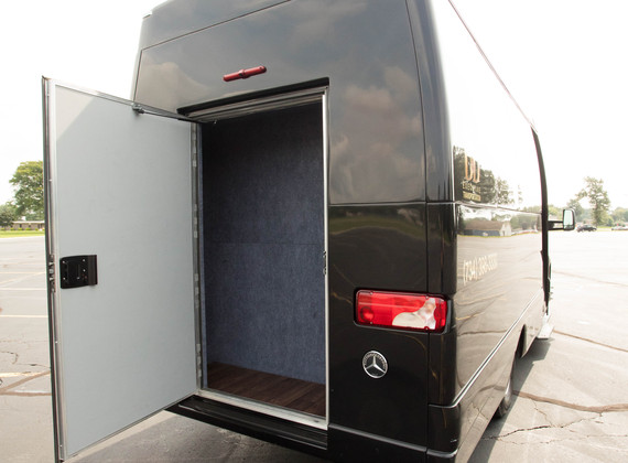 Sprinter Shuttle Rear Storage 1