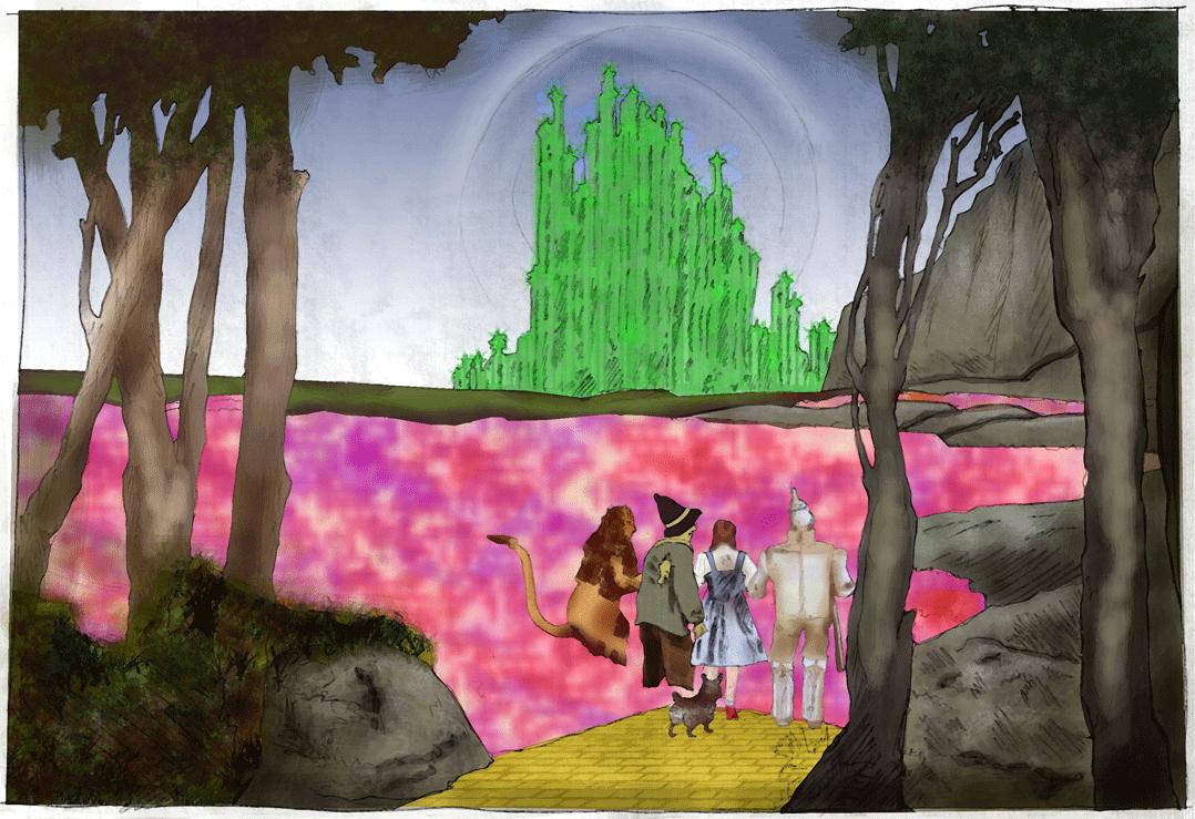 Wizard Oz Watercolor