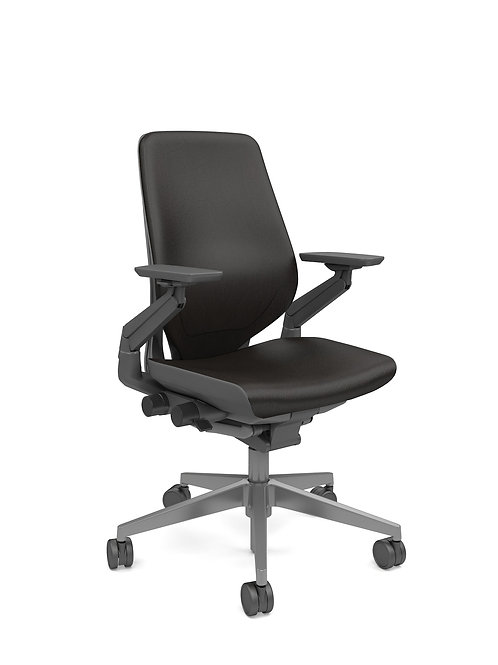 Gesture Chair - Dark Shell -Leather