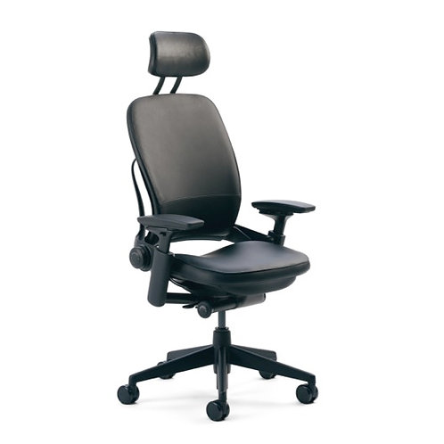 Telstra - Leap V2 Chair - Leather with Headrest (Dispatching from January)
