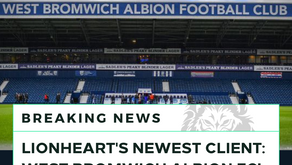 Lionheart announces new partnership with West Bromwich Albion Football Club