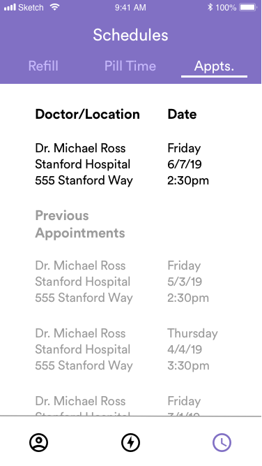 Schedules - Appointments