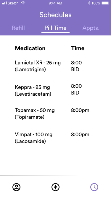 Schedules - Pill Time