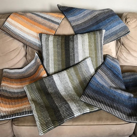 Pillows (woven with local sheep/natural dyes)