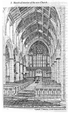 Sketch of the interior of the church