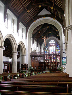 All Saints' interior today