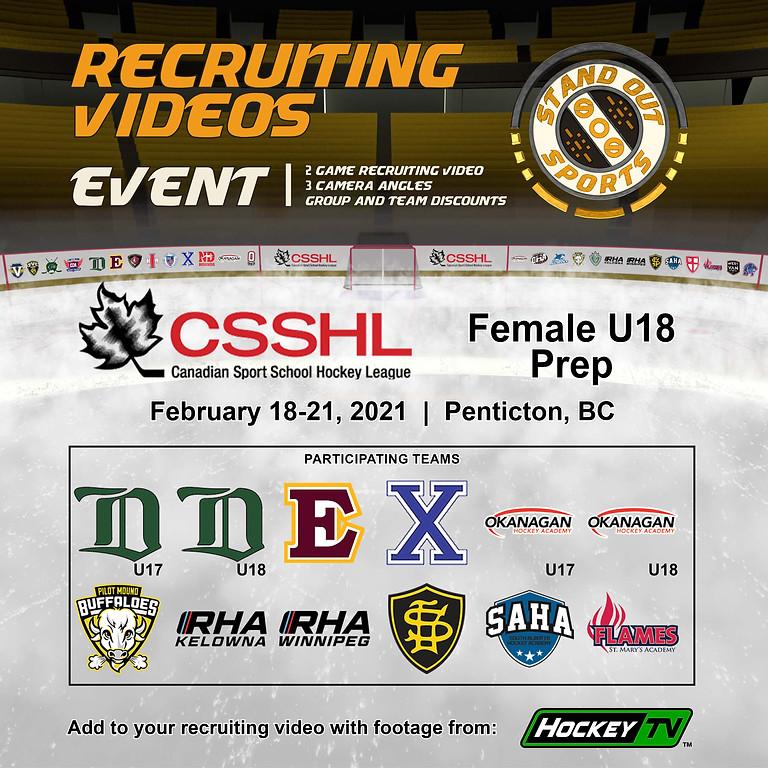 CSSHL Female U18 Prep Showcase