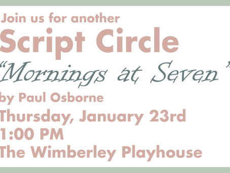 The Script Circle - Another Way to Experience Theatre!