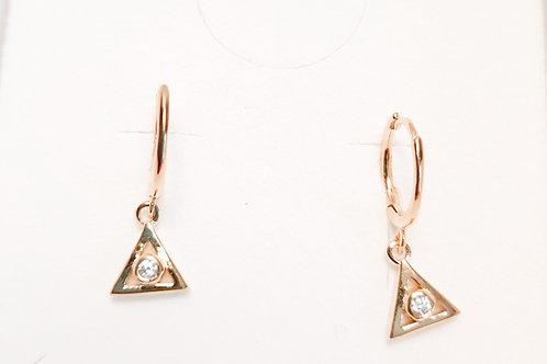 Aros circon triángulo