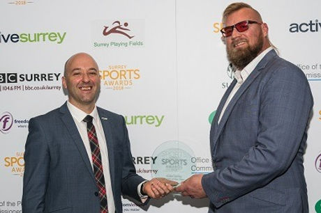 Coach Fields wins Surrey Sports Awards Coach of the Year Award