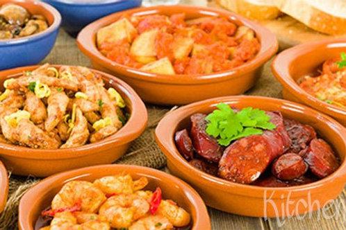 Spaanse Tapas (gevarieerde gerechten)