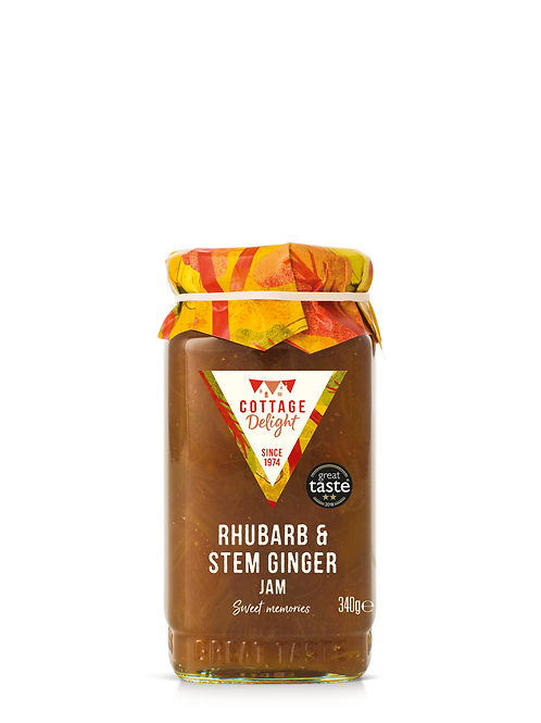 Cottage Delight Rhubarb & Stem Ginger Jam 340g