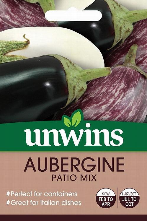 Unwins Aubergine Patio Mix - Approx 10 Seeds