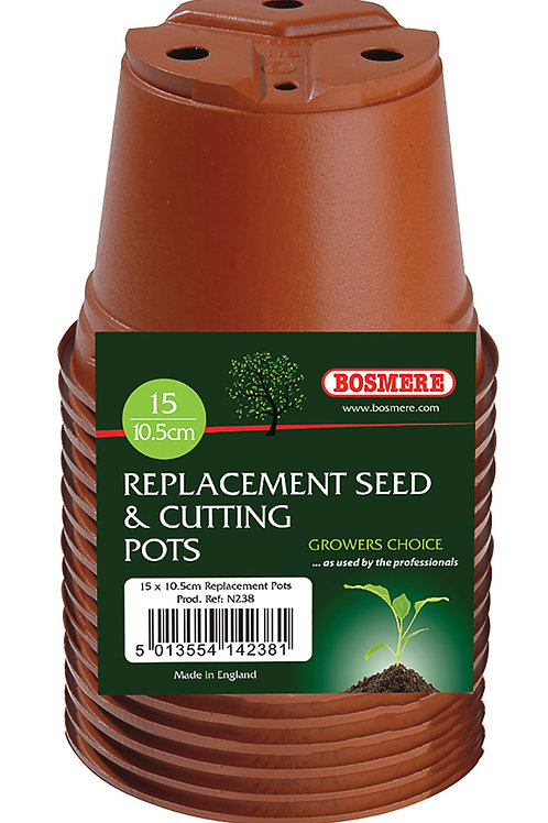 Replacement Seed & Cutting Pots 15 x 10.5cm (Growers Choice)