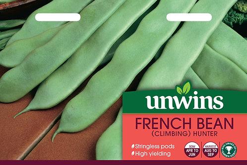 Unwins French Bean (Climbing) Hunter - Approx 60 Seeds