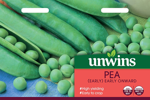 Unwins Pea (Early) Early Onward - Approx 250 Seeds