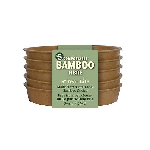 """3"""" Bamboo Saucers (Haxnicks)"""