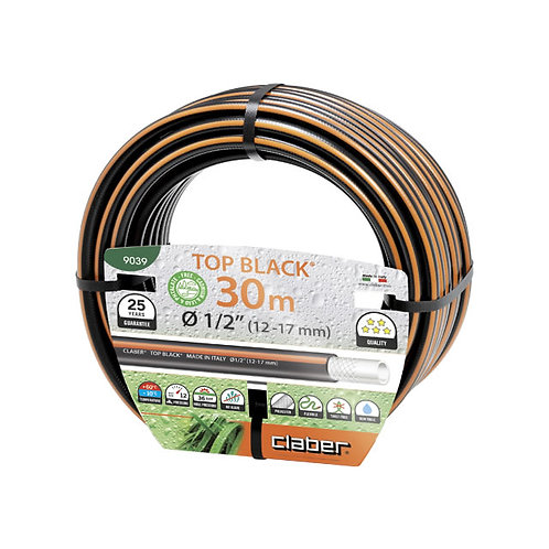 """Top-Black Ø 1/2"""" (12-17 mm) m 30 (Claber 9039)"""