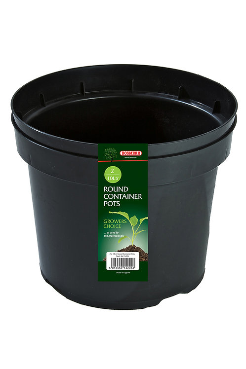 Round Container 10 litre x 2 (Growers Choice)