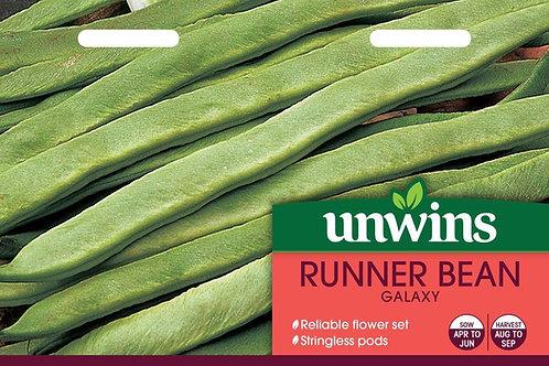 Unwins Runner Bean Galaxy - Approx 30 Seeds