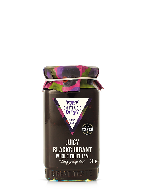 Cottage Delight Juicy Blackcurrant Whole Fruit Jam 340g