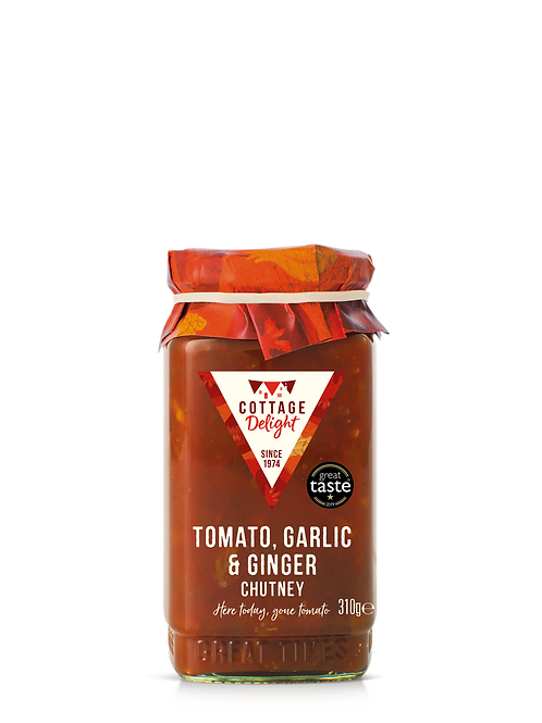 Cottage Delight Tomato, Garlic & Ginger Chutney 310g