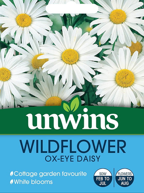 Unwins Wildflower Ox-Eye Daisy - Approx 720 Seeds