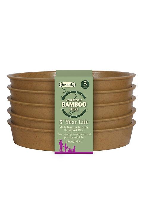 """5"""" Bamboo Saucers (Haxnicks)"""