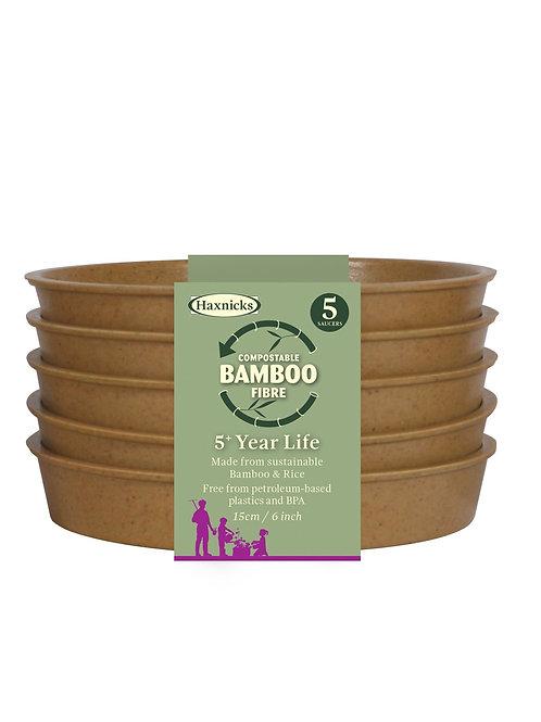 """6"""" Bamboo Saucers (Haxnicks)"""