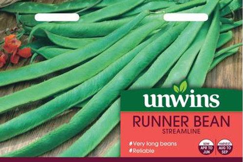 Unwins Runner Bean Streamline - Approx 45 Seeds