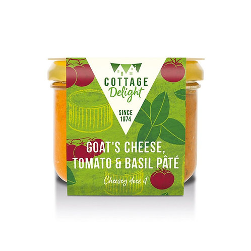 Cottage Delight Goat's Cheese, Tomato & Basil Pate 180g
