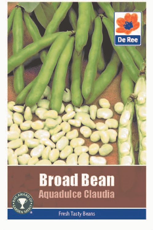 Broad Bean Aquadulce Claudia (De Ree Seeds)