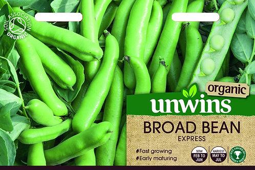 Unwins Organic Broad Bean Express - Approx 30 Seeds