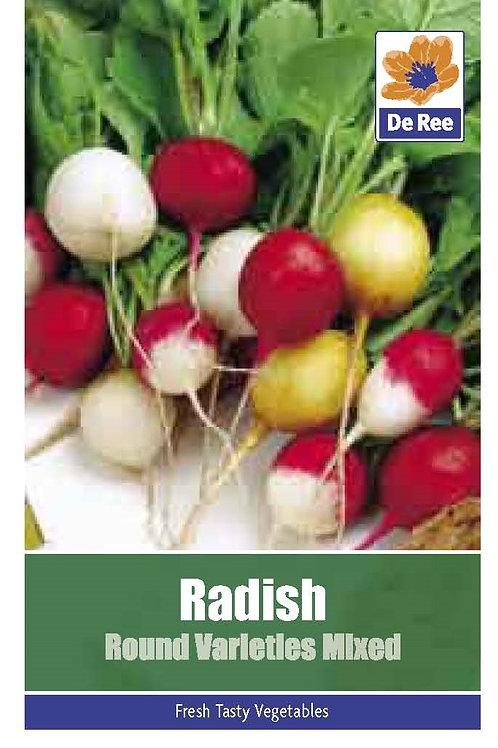 Radish Round Varieties Mix (De Ree Seeds)