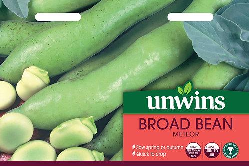 Unwins Broad Bean Meteor - Approx 45 Seeds
