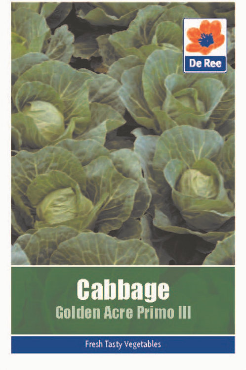 Cabbage Golden Acre Primo 3 (De Ree Seeds)